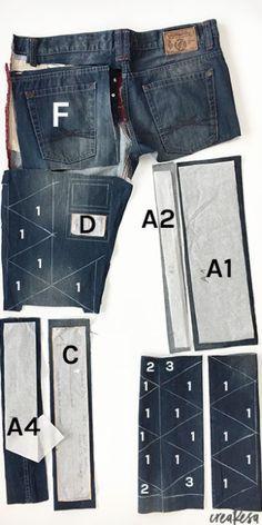 830b2d1b8131 Kostenlose Anleitung für einen Turnbeutel aus Jeans mit Patchworkborte oder  einen einfacheren Stoffturnbeutel. In 2