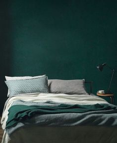 Bedroom in beautiful color #green