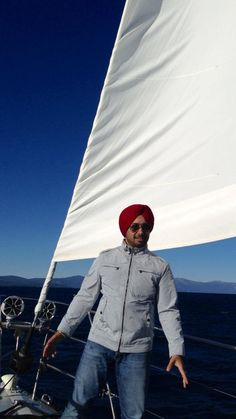 Satinder Sartaaj visited  the biggest fresh water lake of melted Snow in the USA.
