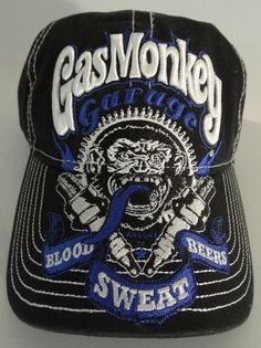 7ded8d1590031 Fast N Loud Gas Monkey Garage Blood Sweat Beers Hat Nwt  GasMonkeyGarage   BaseballCap Fast