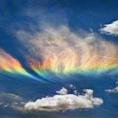 Fire rainbow - A circumhorizontal arc is an optical phenomenon - an ice-halo…