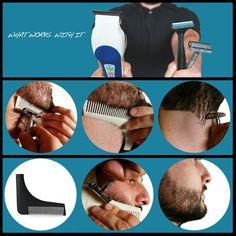 An image of how The Beard Bro Tool works. It's a beard's best friend.