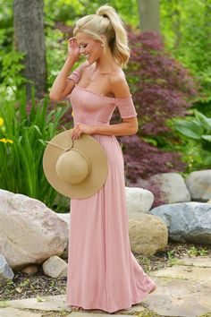 Even Scarlett Would Approve Maxi Dress - Dusty Rose from Closet Candy Boutique… Girls Boutique, Boutique Dresses, Romper With Skirt, Dress Skirt, Dresser, Dusty Rose Dress, Spring Outfits, Fashion Outfits, Ootd Fashion