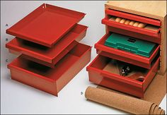 Toolbox Trays - from Lee Valley. Everyone calls looking for the source for these drawers