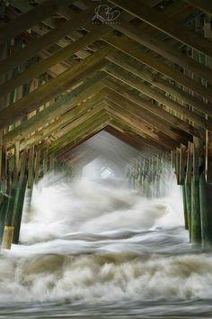 Folly beach right before Irma hit
