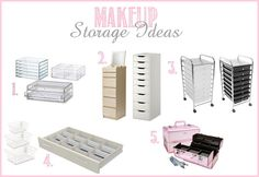 new post- makeup collection storage ideas!