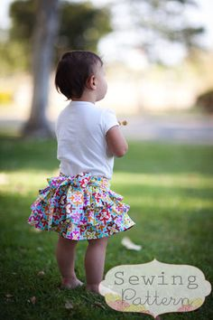 INSTANT DOWNLOAD Flutter Skirt Sizes 12 months door sewsweetpatterns, $5.00