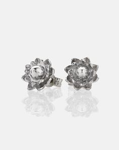 The popular protea studs have had a little sparkle added with gemstones in the centers. Approximate Dimensions: x Available as a single earring on request. Meadowlark Jewellery, African Safari, Precious Metals, Studs, Bling, Stud Earrings, Pure Products, Engagement Rings, Jewels