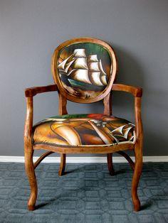 Baron of the Deep Chair  Brandi Milne artist by RubbishRehab