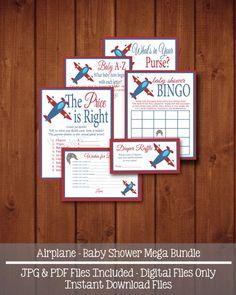 Airplane MEGA Bundle  INSTANT DOWNLOAD  Bingo by swtleilanidesigns, $10.00