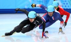 J.R. Celski (left) is about the only hope left for USA speed skating.