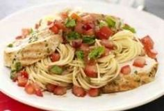 Bruschetta Pasta. I love bruschetta & I love pasta, so I see this in my near future