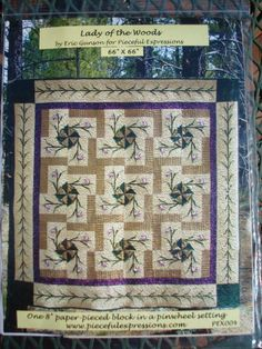 Lady of the  Woods Quilt Pattern  Paper by Jackiesewingstudio, $8.00