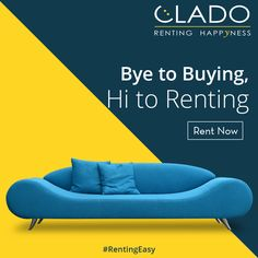 Office and Household furniture on Rent on monthly basis.  http://www.clado.in/furniture ☎ +91-81 30 598959, +91-81 30 598979 #sofa #renting #home #bedroom