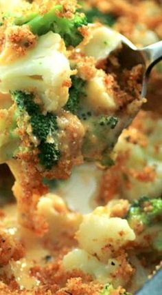 Broccoli Cauliflower Cheese Bake - The cheese sauce is created on it's own in the casserole. You just cut up cubes of cheese and viola, it couldn't be easier!! ❊