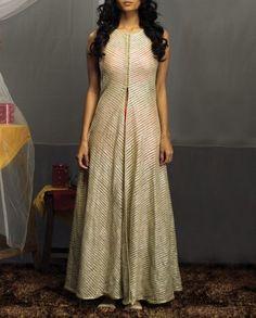 Beige Jacket with Zari Embroidery- Buy Tunics & Tops,SVA By Sonam & Paras Modi - Lakme '14,SVA | Sonam & Paras Modi - Lakme '14 Online | Exclusively.in