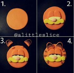 Garfield Cupcake Topper Pictorial