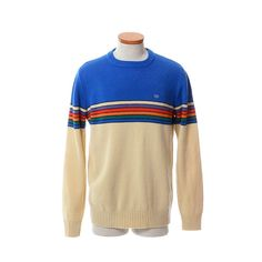 97f99a85bb5bc Vintage 80s OP Rainbow Ski Sweater 1980s Ocean by CkshopperVintage Ski  Fashion
