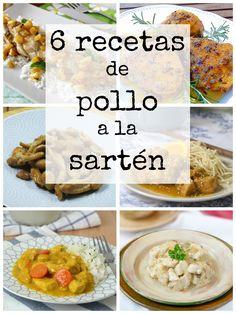 6 recetas de pollo a la sartén fáciles y deliciosas | Cuuking! Recetas de cocina