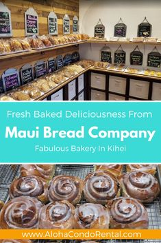 Maui's Best Bakery – Maui Bread Company Maui Bread Company – Amazing Gluten Free Baked Items. Brought to you by www.AlohaCondoRen… Vacation Rental By Owner in Beautiful Maui Trip To Maui, Hawaii Vacation, Maui Hawaii, Vacation Deals, Maui Kihei, Wailea Maui, Vacation Pics, Beach Vacations, Vacation Villas