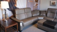 Paradise Sectional - Paloma Khaki with Wenge legs, Available at Scanhome Furnishings in Green Bay.