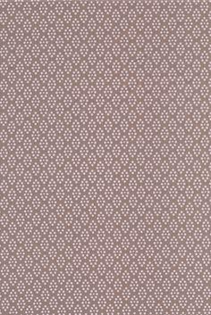 Bomuld m/prik-mønster, lysebrun/rosa