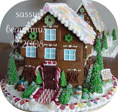 sassy beautimus gingerbread houses - Google Search