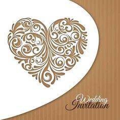 Invitación creativa boda floral del corazón