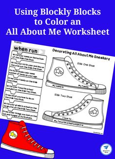 Using Blockly Blocks to Color an All About Me Worksheet - JDaniel4s Mom #BacktoSchool #algorithm #coding #allaboutme #jdaniel4smom Kids Wedding Activities, Christmas Activities For Kids, Printable Activities For Kids, Cool Science Experiments, Preschool Learning Activities, Teaching Kids, Color Activities, Early Learning, Kids Learning