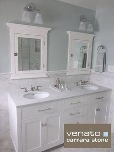"traditional bathroom $7.00SF Carrara Subway Tile Marble 3x6"""