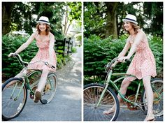 Summer Fashion Look Book shoot for Pink Julep Boutique by Geni Bean of Pink Owl Photography in Louisville KY #bike #watermelon #fashion #model