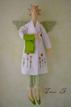 Tilda - love the embroidered white robe