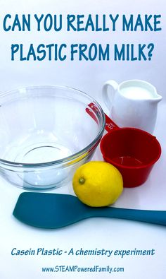 Make Plastic From Milk? You Can With Science! - chemistry experiment kids will love!