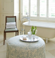 Painted Floors.  Katie Emmons Design - colour combo with tiles