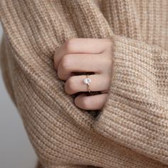 Oval Moissanite and yellow gold solitaire engagement rin Oval Solitaire Engagement Ring, Dainty Engagement Rings, Engagement Ring Buying Guide, Ring Verlobung, Diamond Wedding Bands, Wedding Rings, Making Ideas, Jewellery Making, Gold Jewellery