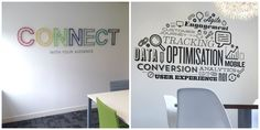 Image result for office wall graphics