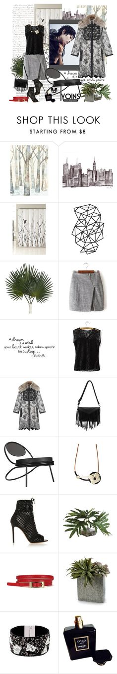 """""""Wrap Skirt by Yoins"""" by carola-corana ❤ liked on Polyvore featuring Kensie, Shin Choi, Andrew Gn, Gubi, Marni, Gianvito Rossi, Ethan Allen, John-Richard, Chanel and women's clothing"""