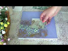Скульптурная живопись, объемная живопись Зеркало Роза часть 1 - YouTube