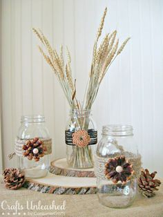 Pine Cone Flower Embellishments