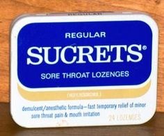Sucrets in a tin - for sore throats