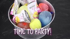DIY Party Cooler - made with Balloon Ice Balls