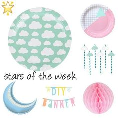 #starsoftheweek 🌟 some of the #mostpopular #party pieces from the last week #clouds #foilballoon #wordbanner #decorations www.theoriginalpartybagcompany.co.uk #OPBCo 💕