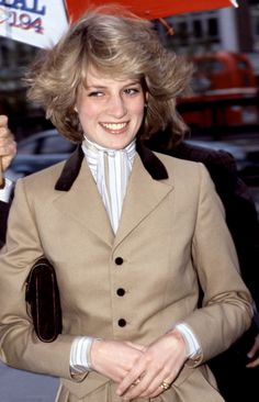 JANUARY 1982 A 20-year-old Diana visited Capital Radio studios in London in a fitted Catherine Walker blazer.