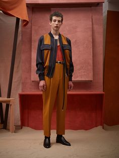 Citing a recent trip to Morocco as their inspiration, they gave us incredibly-cut trousers whose waists were high and fastened with extra-long belts and slinky-slinky bomber jackets. [CONTINUE...