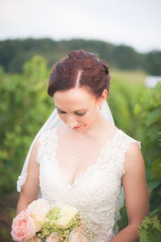 Wedding day hair and makeup idea - twisted updo + natural make up {Brit Perkins Photography}