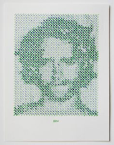 Stitched Portrait Project by Evelin Kasikov