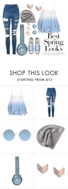 """""""best spring looks"""" by daisybluemine on Polyvore featuring Topshop, Sunday Somewhere, Converse, FOSSIL and H&M"""