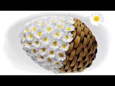 jajko wielkanocne z papieru _ stokrotki _ quillingowe  jak wykonać  kr...