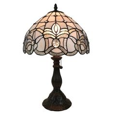 Shop for Amora Lighting Tiffany Style Floral Design Table Lamp. Get free delivery On EVERYTHING* Overstock - Your Online Lamps & Lamp Shades Store! Buffet Table Lamps, White Table Lamp, Lamp Table, Tiffany Style Table Lamps, Tiffany Lamps, Style Floral, Floral Design, Best Desk Lamp, Chandeliers