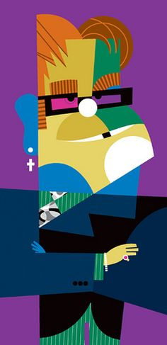 Elton by Pablo Lobato, via Flickr    haha I think this is my favourite! I can't stop looking at it! It's truly brilliant :)))